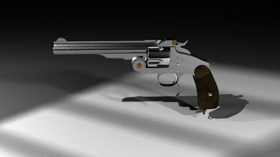Colt Revolver Gun royalty-free 3d model - Preview no. 4