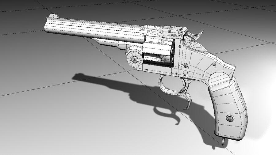 Colt Revolver Gun royalty-free 3d model - Preview no. 7
