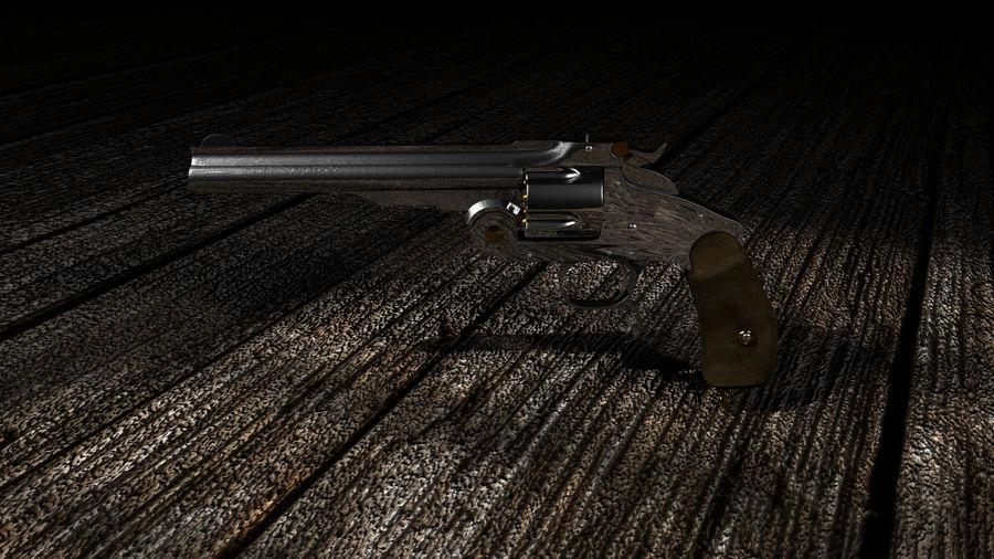 Colt Revolver Gun royalty-free 3d model - Preview no. 3