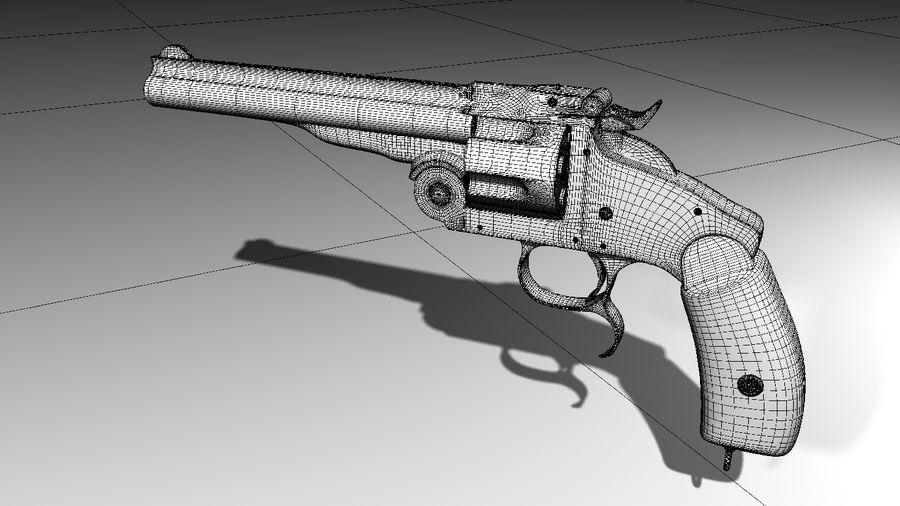 Colt Revolver Gun royalty-free 3d model - Preview no. 8
