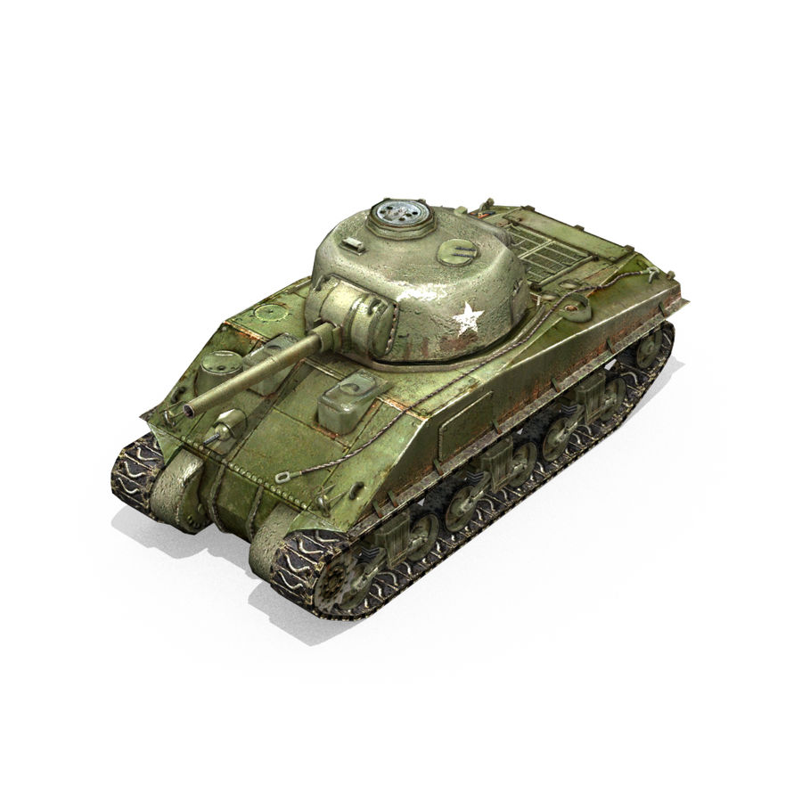 Carro armato Sherman M4 royalty-free 3d model - Preview no. 15