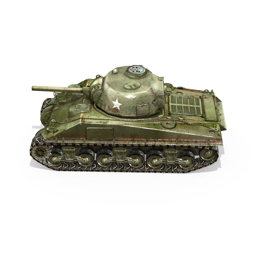 Carro armato Sherman M4 royalty-free 3d model - Preview no. 14