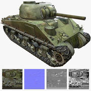 Débardeur Sherman M4 3d model