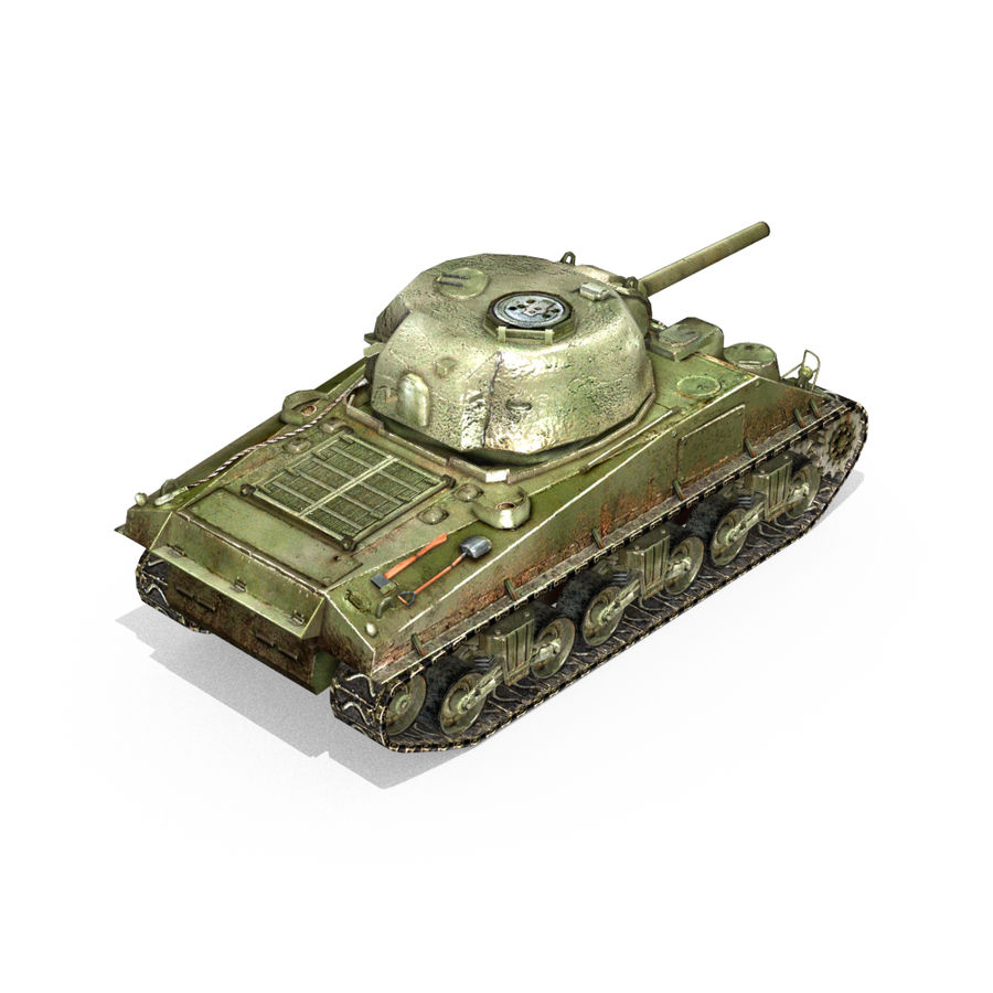 Carro armato Sherman M4 royalty-free 3d model - Preview no. 12