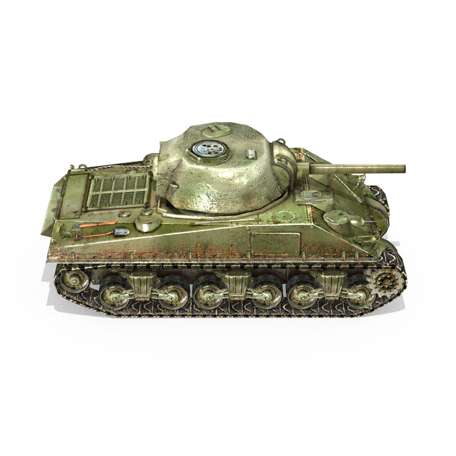 Carro armato Sherman M4 royalty-free 3d model - Preview no. 11