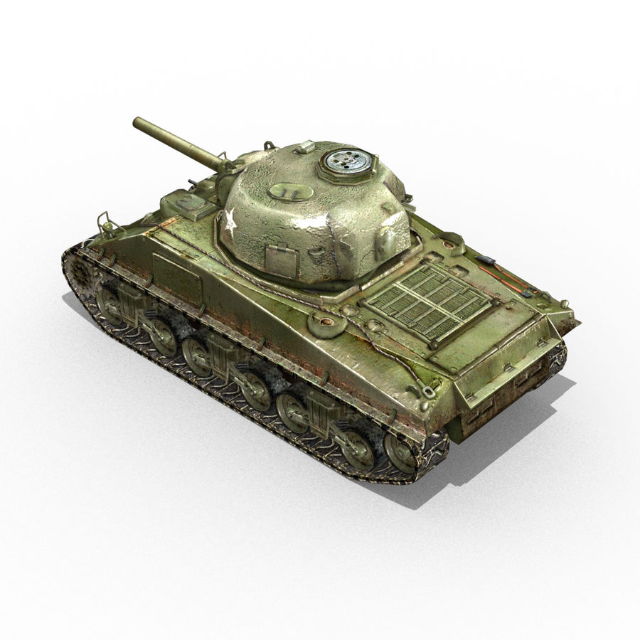 Carro armato Sherman M4 royalty-free 3d model - Preview no. 13