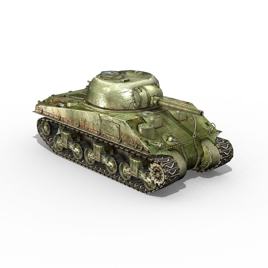 Carro armato Sherman M4 royalty-free 3d model - Preview no. 10