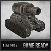 Toon Tank 02 3d model