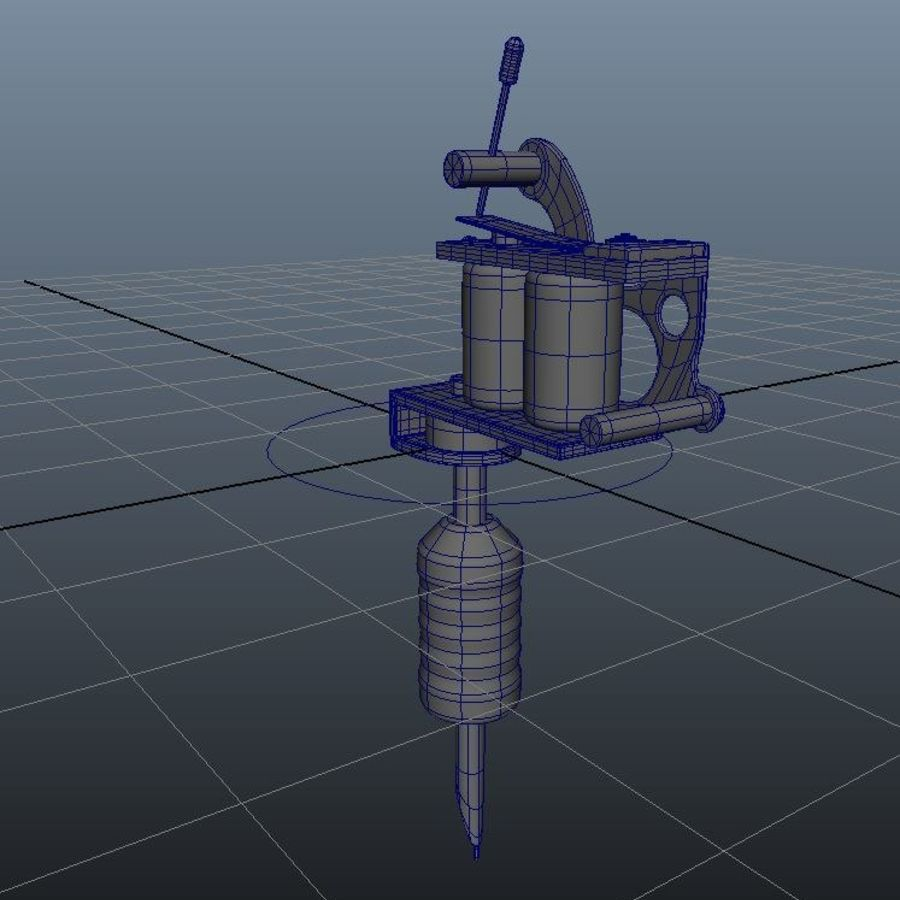 Tattoo Machine royalty-free 3d model - Preview no. 3