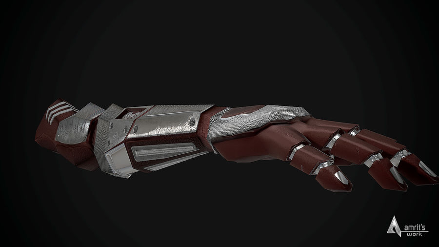 FPS Hand royalty-free 3d model - Preview no. 3