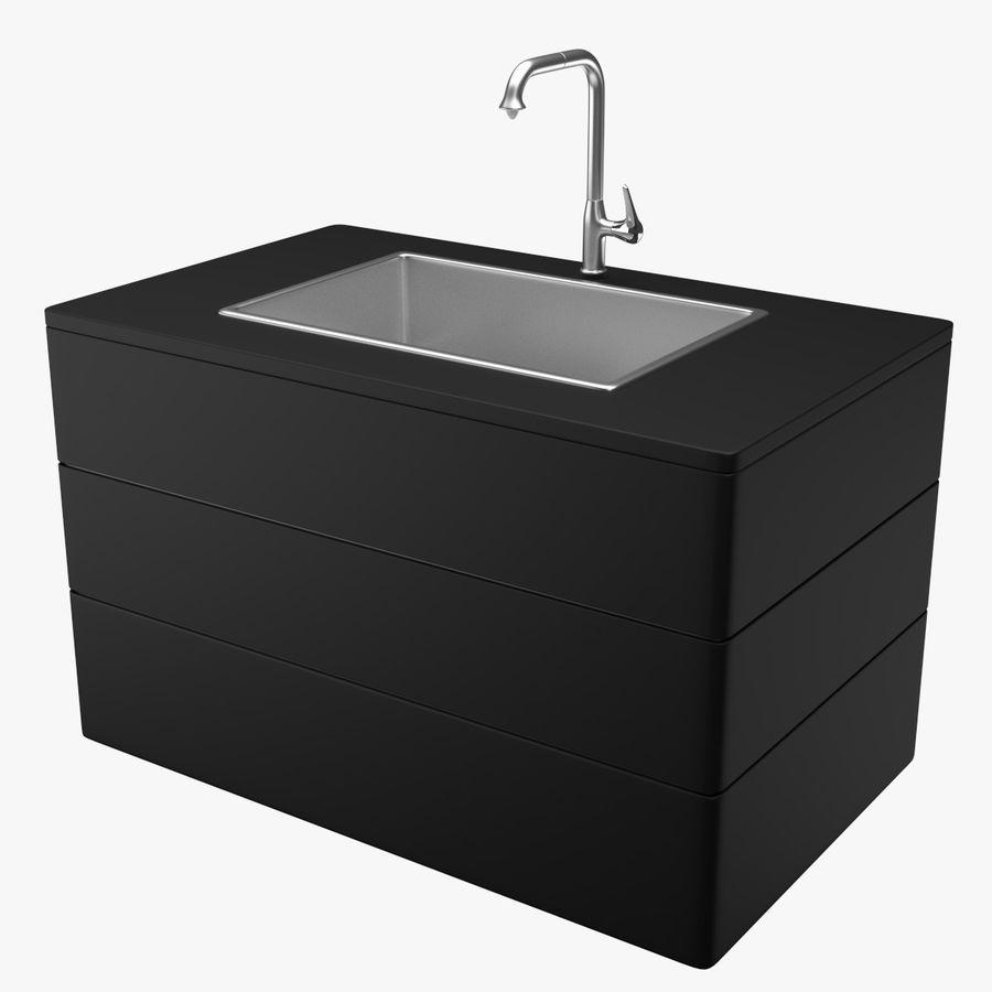 Lavello e rubinetto della cucina royalty-free 3d model - Preview no. 1