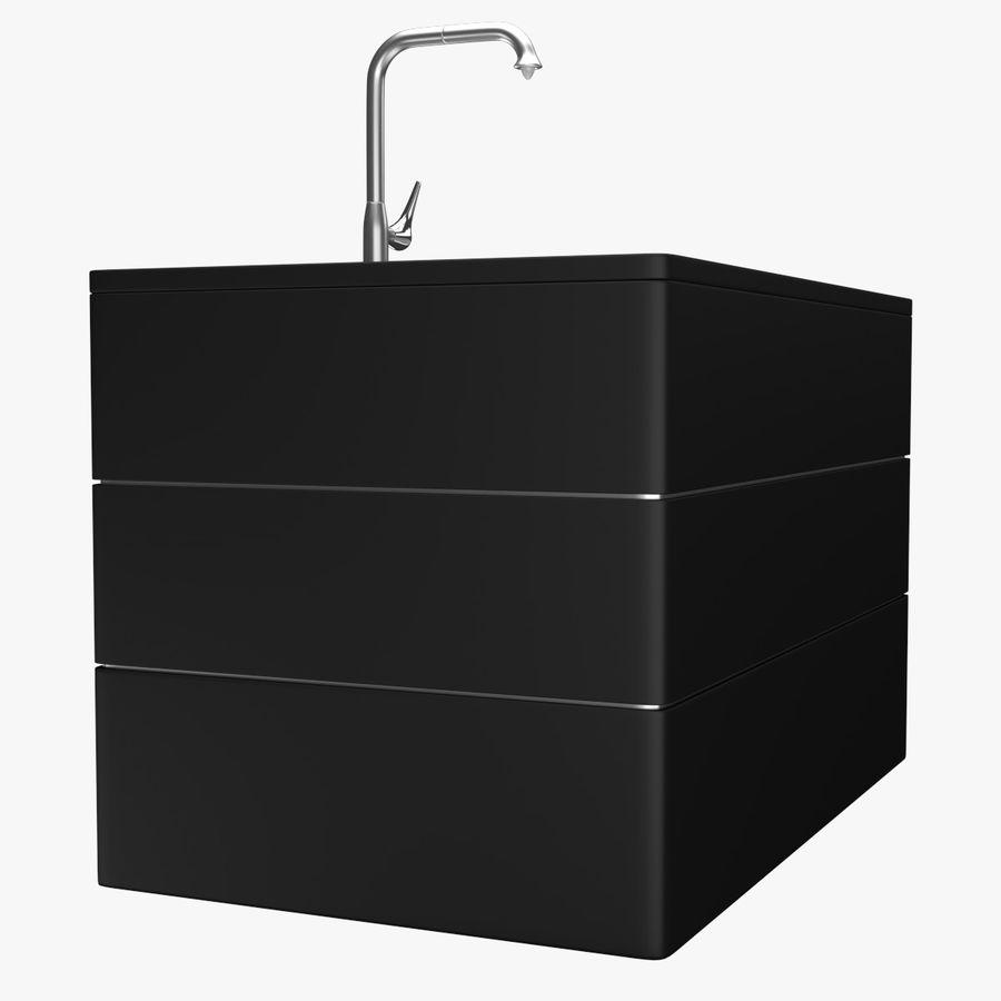 Lavello e rubinetto della cucina royalty-free 3d model - Preview no. 2