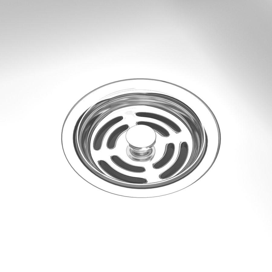 Lavello e rubinetto della cucina royalty-free 3d model - Preview no. 7