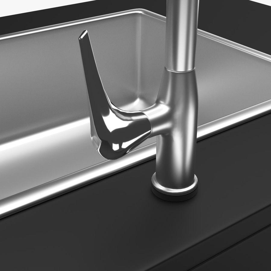 Lavello e rubinetto della cucina royalty-free 3d model - Preview no. 6