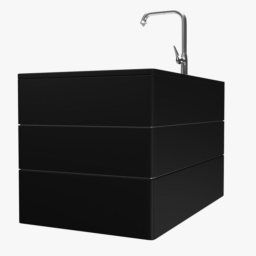 Lavello e rubinetto della cucina royalty-free 3d model - Preview no. 4