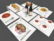 Yiyecek ve içecekler 3d model
