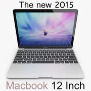 Apple Macbook 2015 12英寸 3d model