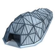 Modernes futuristisches Gebäude 3d model