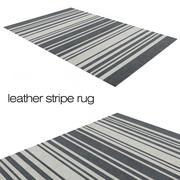 Leather stripe rug 3d model
