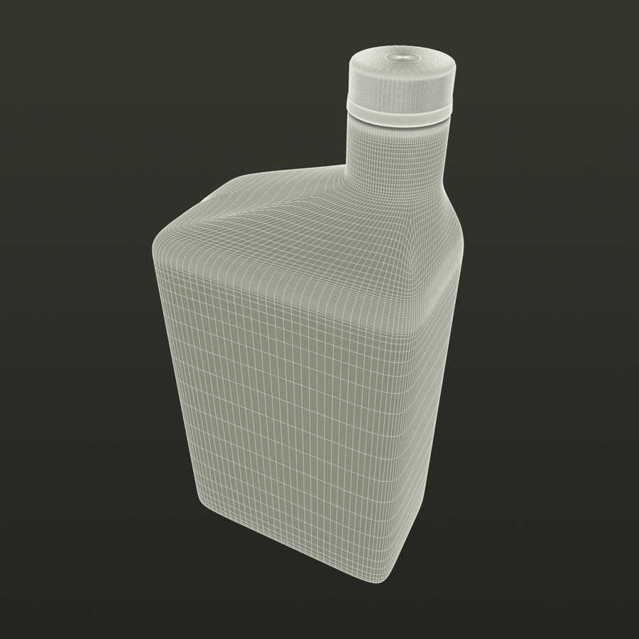 Oil Bottle royalty-free 3d model - Preview no. 9