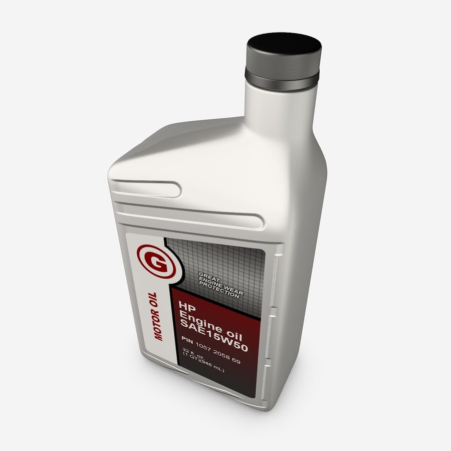 Oil Bottle royalty-free 3d model - Preview no. 5