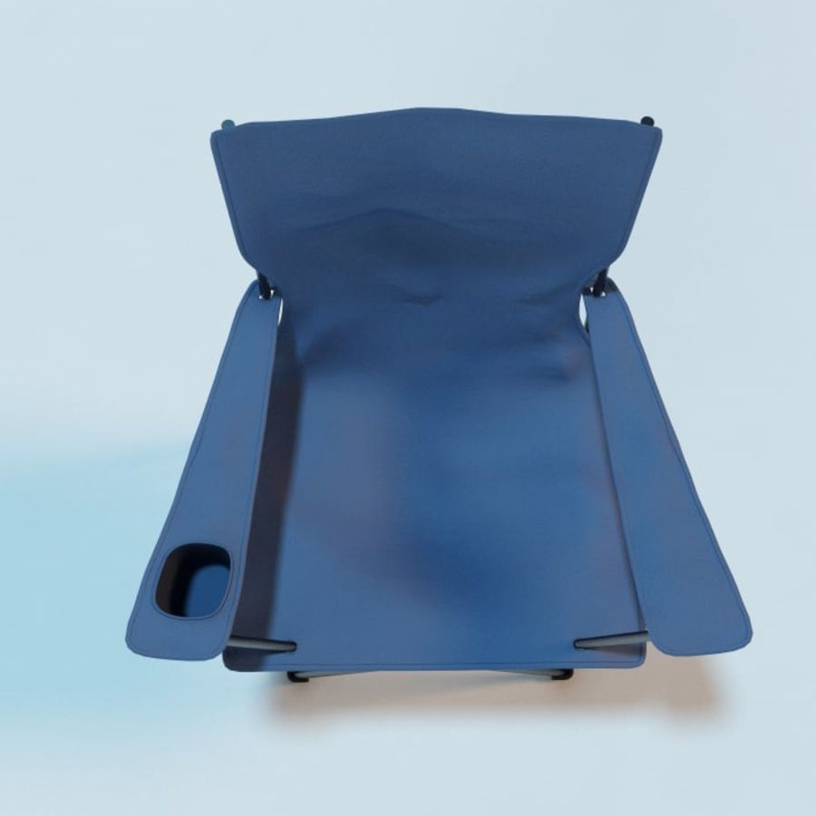 Camping Chair royalty-free 3d model - Preview no. 3