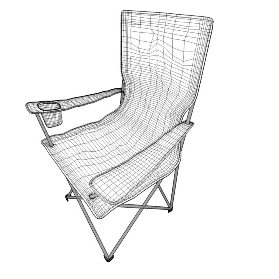 Camping Chair royalty-free 3d model - Preview no. 6