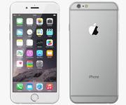 애플 아이폰 6 실버 3d model