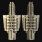 タチアオイの家の建築装飾要素 3d model