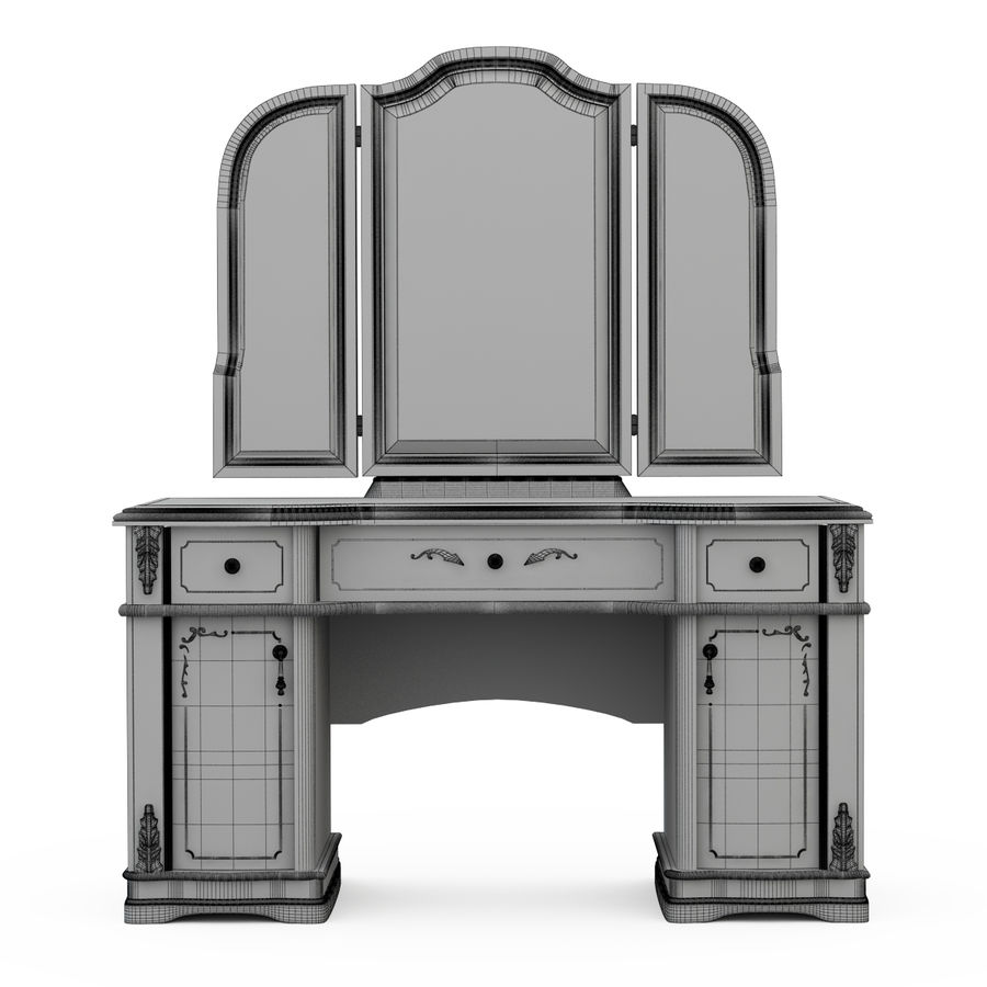 Toalettbord Floriana royalty-free 3d model - Preview no. 4