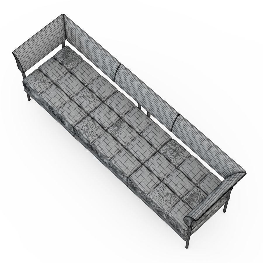 Sofa Hydra Castor royalty-free 3d model - Preview no. 4