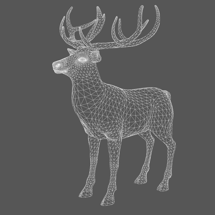 cervo adattato al sartiame royalty-free 3d model - Preview no. 9