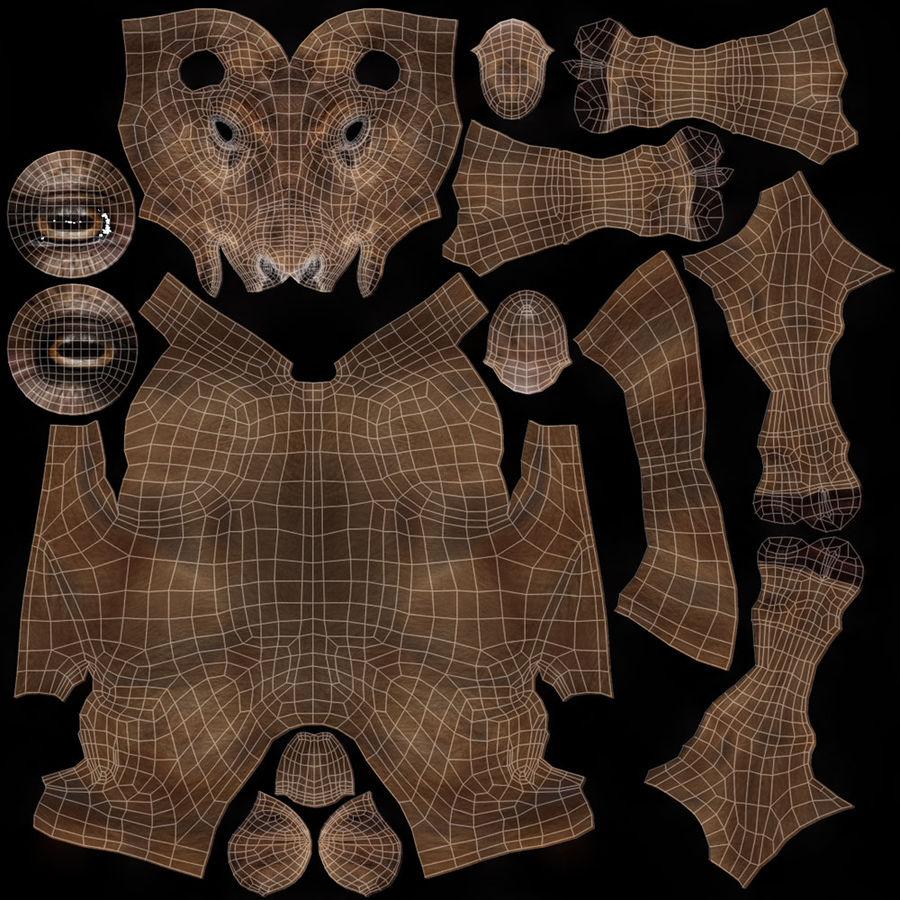 cervo adattato al sartiame royalty-free 3d model - Preview no. 11