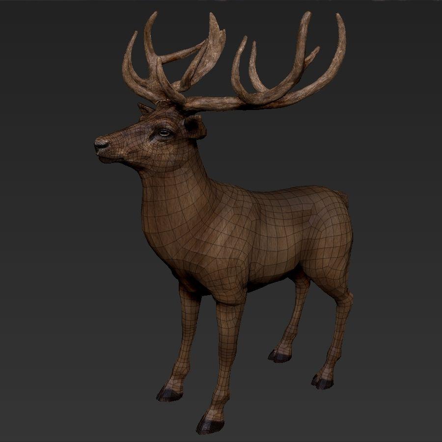 cervo adattato al sartiame royalty-free 3d model - Preview no. 5