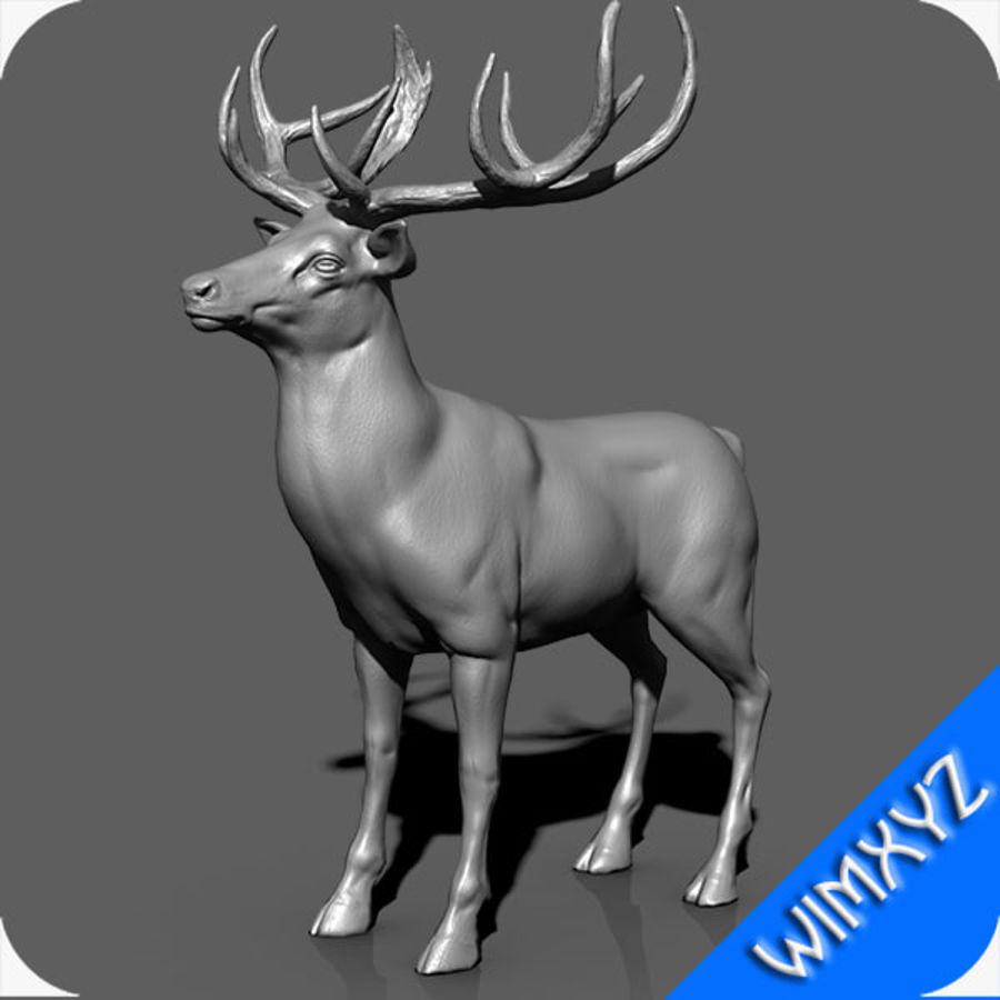 cervo adattato al sartiame royalty-free 3d model - Preview no. 10