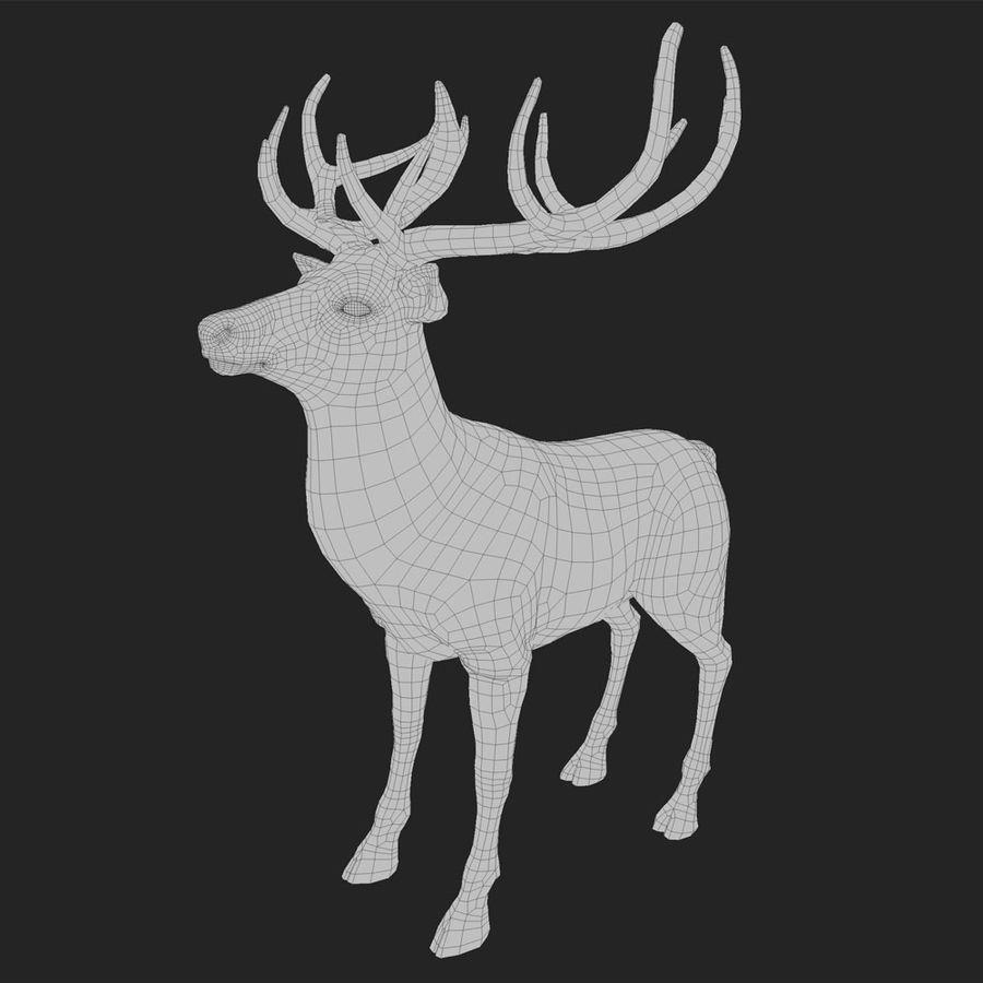 cervo adattato al sartiame royalty-free 3d model - Preview no. 2