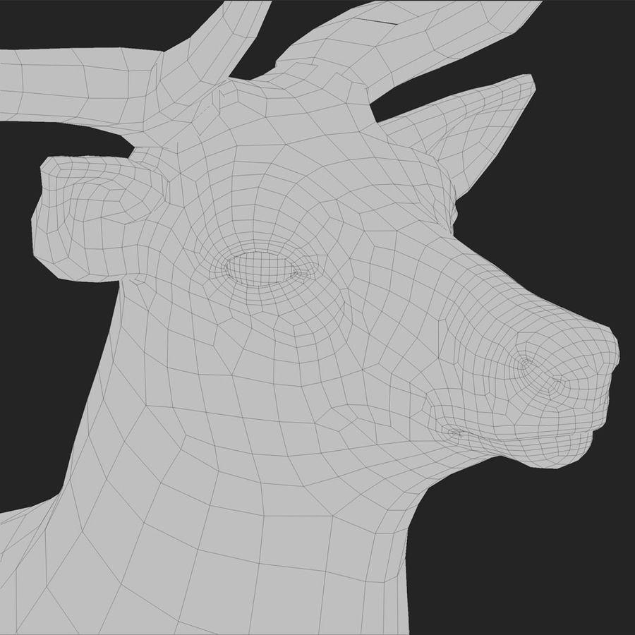 cervo adattato al sartiame royalty-free 3d model - Preview no. 3