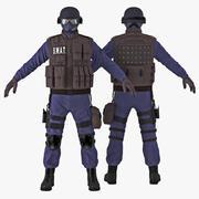 Poliziotto SWAT 3d model