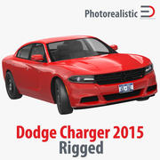Dodge Charger 2015 Rigged 3d model