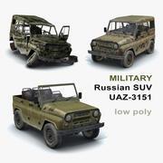 UAZ-3151 Militaire set 3d model