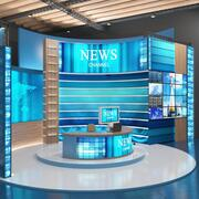 Notizie TV Studio 3d model