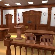 Sala sądowa 3d model