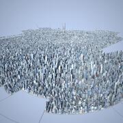 Большой город 34 3d model