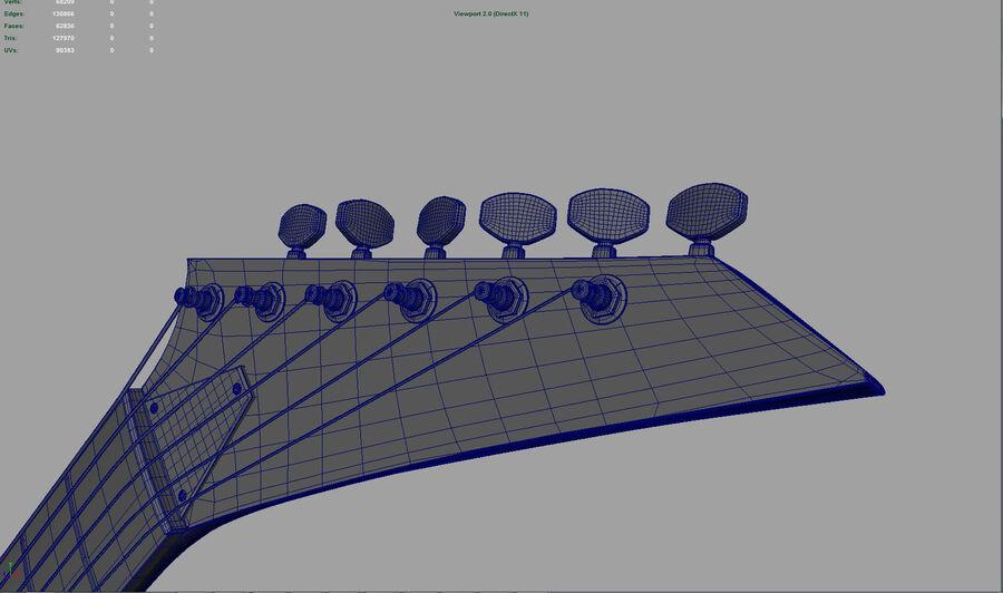 Elgitarr royalty-free 3d model - Preview no. 6