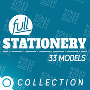 FULL STATIONERY COLLECTION 3d model