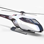 Helicóptero Futurista 3d model