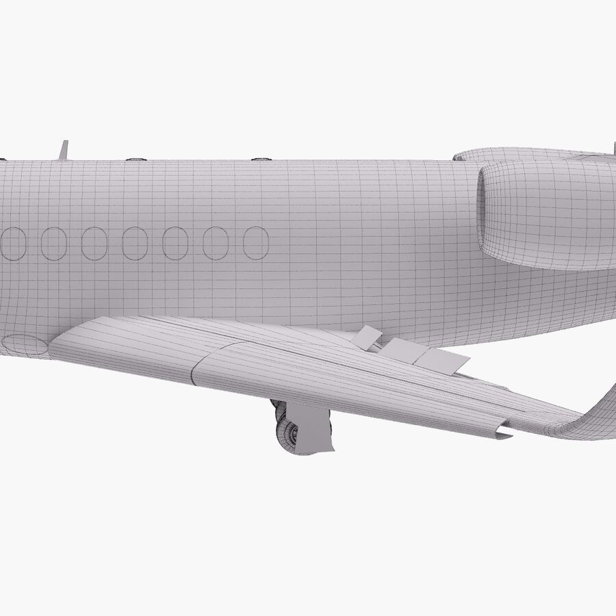 Dassault Falcon 2000LXS. Ożywiony. 6 royalty-free 3d model - Preview no. 29