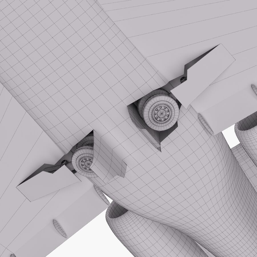 Dassault Falcon 2000LXS. Ożywiony. 6 royalty-free 3d model - Preview no. 34
