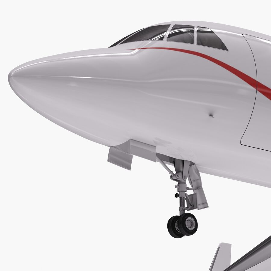 Dassault Falcon 2000LXS. Ożywiony. 6 royalty-free 3d model - Preview no. 2