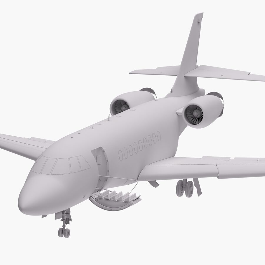 Dassault Falcon 2000LXS. Ożywiony. 6 royalty-free 3d model - Preview no. 24